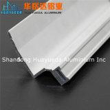 La protuberancia de aluminio anodizada Matt de plata perfila perfiles de la decoración