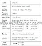 Interruttore di pressione pneumatico Kbq-01A per macchina di imballaggio multifunzione