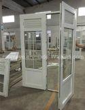 Porta de vidro personalizada Casement Sound-Proof/à prova d'água/Heat-Insulated do PVC com grelha (PCD-051)