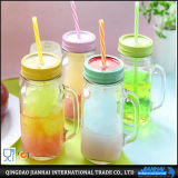Multi-Funtional frasco de pedreiro de vidro para o suco, a bebida e o alimento