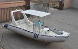 販売の堅い外皮のボートのためのLiya 20ft Hypalonの膨脹可能な漁船