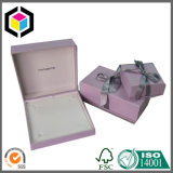 Rectángulo de joyería de empaquetado de papel del regalo de la espuma de la tela de la multitud