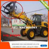 Ce 1.6 tonnellate di EPA4 di caricatore della rotella con la forcella idraulica del pallet
