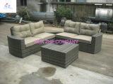 Sofá secional do sofá da mobília do pátio ajustado - mar azul