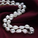 collar verdadero de la perla del diseñador de 10m m AA 925silver