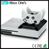 Estación de carga dual accesoria del juego con el eje del USB del ventilador 4 de la consola para el regulador delgado del xBox uno