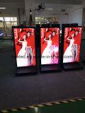 De reclame van de Vloer die van de Speler de Vertoning Advertentie van de HOOFD van de Monitor bevinden zich