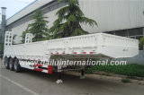 acoplado ensanchado blanco de 3-Axles Lowboy semi con la escala del resorte