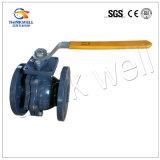 Robinet à tournant sphérique à passage intégral de flotteur de fer de moulage d'eau chaude de normes DIN