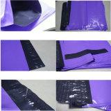 Bolso plástico del embalaje del color rojo oscuro al por mayor para la ropa
