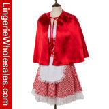 Vestito operato dal partito adulto di Halloween poco costume di Cosplay del cappuccio di guida rosso per le donne