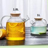 brocca fredda di vetro della caldaia della spremuta del POT di vetro del tè 1.8L