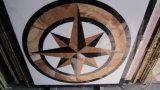 大理石の円形浮彫りのウォータージェットの円形浮彫りの象眼細工の自然な石造りのモザイク模様