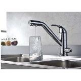 Кухни клапана крома 2 отверстий Faucet раковины смесителя керамической латунный