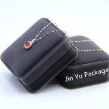 Rectángulo de empaquetado del terciopelo del rectángulo de la joyería hecha a mano del regalo para el collar