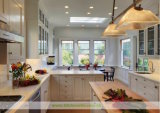 De witte Stevige Houten Keuken van de Schudbeker van de Hoogste Kwaliteit (wh-D253)