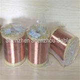 Diâmetro folheado de cobre 0.14mm do fio do condutor de Alu CCA