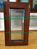 Guichet glaçant d'inclinaison et de spire en verre Tempered de triple en aluminium plaqué en bois de chêne de l'Amérique, guichet à la maison esthétique de tissu pour rideaux