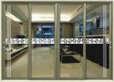 Раздвижная дверь верхнего пролома большого диапазона ранга термально алюминиевая с подкрашиванным стеклом