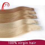 加工されていないバージンのRemyのブラジルの人間の毛髪まっすぐなテープ毛の拡張