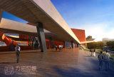 Rappresentazione esterna di architettura di disegno 3D della costruzione di arte dell'università