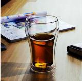 Tazza di vetro doppia creativa di vetro della tazza dell'ufficio