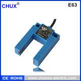 Tipo interruptor fotoeléctrico E63 (E63) de la dimensión de una variable de U de los sensores de la fotocélula