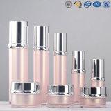 Bouteille cosmétique acrylique en plastique argentée de luxe