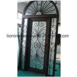 Geschmiedete Eisen-Eintrag-kundenspezifische Außentüren