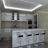 Gabinete de cozinha europeu moderno popular da laca do estilo