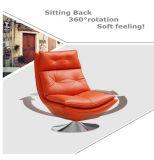 Sofa moderne de cuir véritable de couleur de citron (M612)