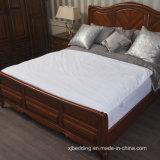 綿の珊瑚の可逆ベッドの保護装置の防水マットレスのカバー