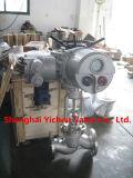 Robinet d'arrêt sphérique électrique à haute pression d'acier inoxydable