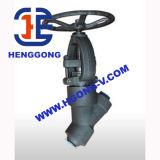 API/DIN Klep van de Bol van de Hoge druk van het handwiel de Industriële Olie Gesmede