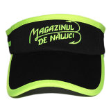 Custom Neon Bordado Logo Black Cotton Sun Visor Hat
