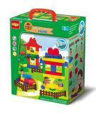 庭の学校の農場の警察は教育おもちゃのためのおもちゃの煉瓦を困惑させる