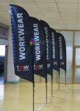 Nuovo stile personalizzato che fa pubblicità alla bandierina di spiaggia della bandiera della piuma con Palo