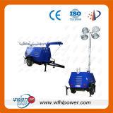 10kw Generator van de Toren van de Bouw van de Lamp van 4X1000W de Lichte