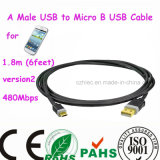 Handy ein Male USB bis Micro B USB Cable