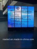 Fußboden, der Bildschirm die farbenreiche LED-Innenbildschirmanzeige Schuh-Poliert Digital-Zeichen bekanntmachend steht