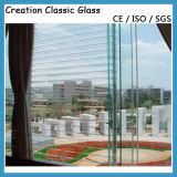 4mmの明確な緩和されたルーバーガラスCustomedのサイズのガラスセリウムSGS