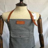 Avental profissional de Barista da lona do algodão da fábrica com logotipo projetado