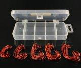Crochet à manivelle de grande taille de qualité supérieure Crochet de pêche à la couleur rouge Pêche à la pêche