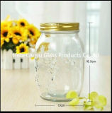 Mini frascos de pedreiro vazios por atacado do frasco de vidro de leite do pudim 100ml com tampão plástico