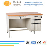 Escritorio de acero superficial de madera Lh-107 para la oficina