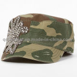 Schleifen Washed Stickerei bunten Strass Freizeit Military Cap ( TM1994 )