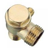 Conector de válvula roscado varón portuario de verificación del compresor de aire de la aleación 3
