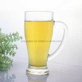 OEMのロゴの印刷の飲料水のガラスマグ、ガラスビールコップ