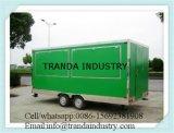 Krapfen-Lebesmittelanschaffung-chip-Saft-Stab-Schlussteil-Packwagen von Qingdao China
