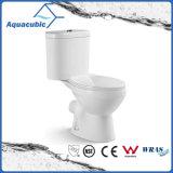 Tocador de cerámica del armario de dos piezas de Siphonic del cuarto de baño (AT0221)